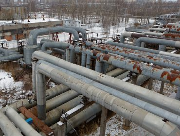 Inspect industrial oil field and pipeline with drone aerial images